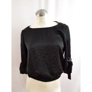 Michael Kors Size XS Black Blouse Top Shirt
